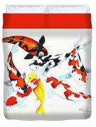 Graceful Koi Duvet Cover