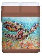 Sea Turtle Buddies Duvet Cover