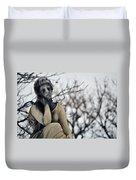 Graceland Cemetery Woman Duvet Cover