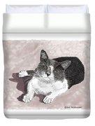 Gracie Jacks Cat Now Duvet Cover