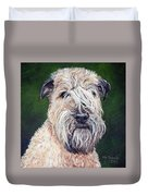Gracie, Soft Coated Wheaten Terrier Duvet Cover