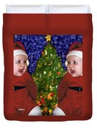 Gracies Christmas Tree Duvet Cover