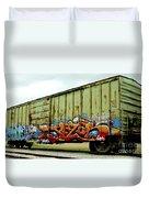 Graffiti Boxcar Duvet Cover by Danielle Allard