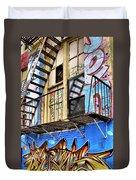 Graffiti Fire Duvet Cover