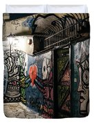 Graffiti In Plaka I Duvet Cover by James Billings