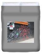 Graffiti Pigeon Duvet Cover