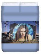 Graffiti Street Art Mural Around Melrose Avenue In Los Angeles, California  Duvet Cover