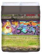 Graffiti Under A Bridge Duvet Cover
