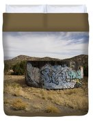 Grafitti In The Middle Of Nature Duvet Cover