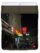 Grafton Street Pub And The Hong Kong In Harvard Square Cambridge Ma Duvet Cover