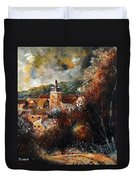 Graide Village Belgium Duvet Cover