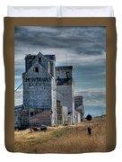 Grain Elevators, Wilsall Duvet Cover