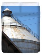 Grain Silo In Roswell Duvet Cover