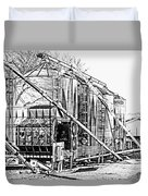 Grain Silos In Black And White Duvet Cover