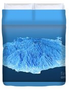 Gran Canaria Topographic Map 3d Landscape View Blue Color Duvet Cover