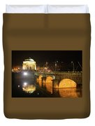 Gran Madre Church By Night In Turin, Italy Duvet Cover