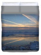Grand Bend Winter Reflections 2 Duvet Cover