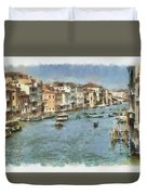 Grand Canal In Venice Duvet Cover