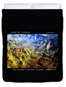 Grand Canyon Aerial View Duvet Cover