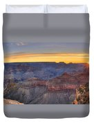 Shimmering Warmth In Panoramic Duvet Cover