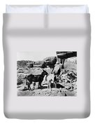 Grand Canyon: Donkeys Duvet Cover