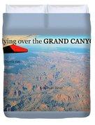 Grand Canyon Flight Duvet Cover