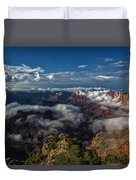 Grand Canyon Fog Duvet Cover