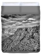 Grand Canyon In Black And White Duvet Cover