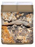 Grand Canyon Lizard Duvet Cover