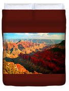 Grand Canyon National Park Sunset On North Rim Duvet Cover
