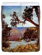 Grand Canyon National Park - Winter On South Rim Duvet Cover