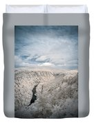 Grand Canyon Of Pa In Infrared Duvet Cover