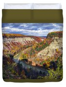 Grand Canyon Of The East Duvet Cover