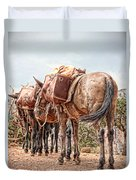 Grand Canyon Pack Mules Duvet Cover