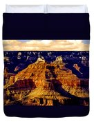 Grand Canyon Painting Sunset Duvet Cover