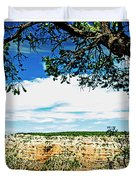 Grand Canyon View From South Rim Overlook Duvet Cover
