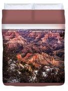 Grand Canyon Winter Sunrise Landscape At Yaki Point Duvet Cover