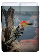 Grand Canyon Woodpecker Duvet Cover