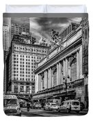 Grand Central At 42nd St - Mono Duvet Cover