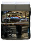 Grand Central Terminalfood Carts Duvet Cover