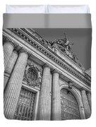 Grand Central Terminal - Chrysler Building Bw Duvet Cover