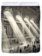 Grand Central Terminal, New York In The Thirties Duvet Cover