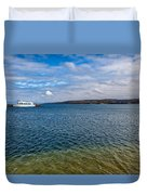 Grand Harbor On Lake Superior Duvet Cover
