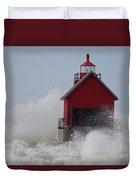 Grand Haven Lighthouse Duvet Cover