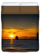 Grand Haven Sunset Duvet Cover