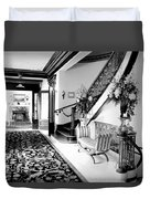 Grand Island Mansion Mosher Ranch 7 B And W Duvet Cover