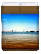 Grand Marais Harbor Duvet Cover