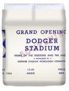 Grand Opening Dodger Stadium Ticket Stub 1962 Duvet Cover