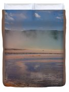 Grand Prismatic In Yellowstone Park Duvet Cover