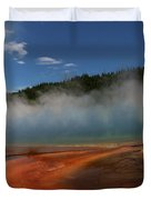 Grand Prismatic Spring At Yellowstone's Midway Geyser Basin Duvet Cover
